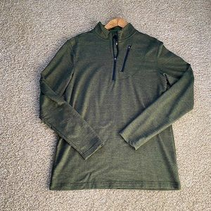 Quarter Zip green sweater
